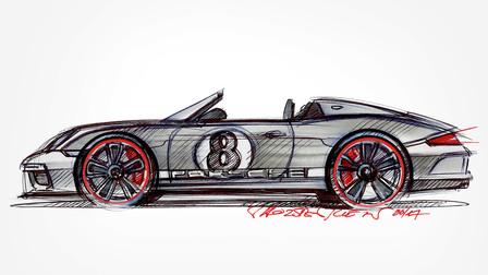 Sketch of the 911 Speedster