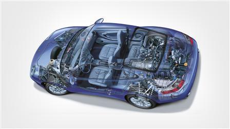 911 Carrera 3,4 Coupé Mj. 2002, Phantomzeichnung